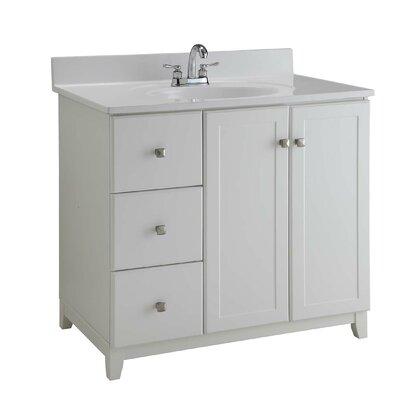 36 Single Bathroom Vanity Base Base Finish: Semi Gloss White