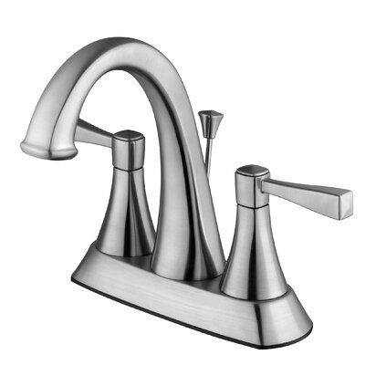 Perth Lavatory Centerset Faucet Double Handle with Drain Assembly