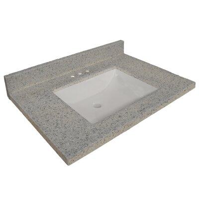25 Single Bathroom Vanity Top Top Finish: Moonscape Gray