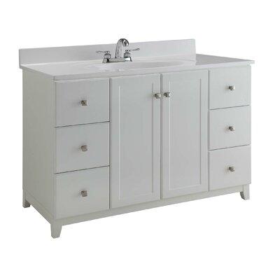 48 Single Sink Bathroom Vanity Base Base Finish: Semi Gloss White