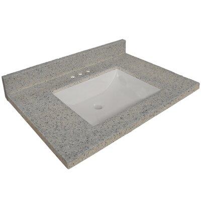 31 Single Bathroom Vanity Top Top Finish: Moonscape Gray