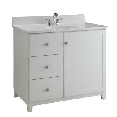 30 Single Bathroom Vanity Base Base Finish: Semi Gloss White