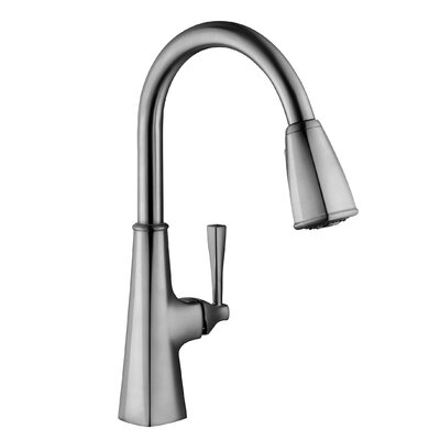 Perth Single Handle Deck Mounted Kitchen Faucet with Pull Down Sprayer
