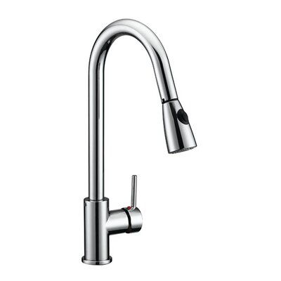 Eastport Pull Down Single Handle Kitchen Faucet Finish: Polished Chrome