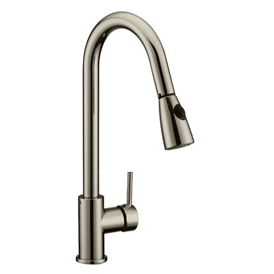 Eastport Single Handle Deck Mounted Pull Down Kitchen Faucet Finish: Satin Nickel