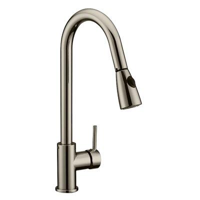 Eastport Pull Down Single Handle Kitchen Faucet Finish: Satin Nickel