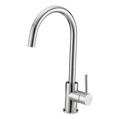 Eastport Single Handle Deck Mounted Kitchen Faucet Finish: Polished Chrome