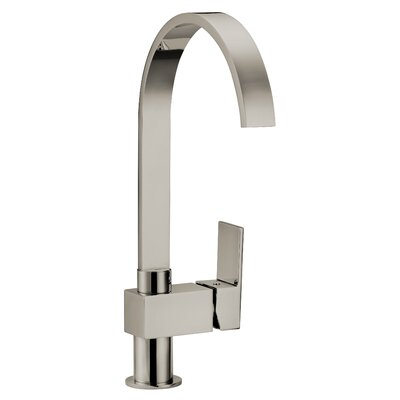 Karsen Single Handle Deck Mounted Kitchen Faucet Finish: Satin Nickel