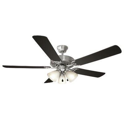 52 Millbridge 5-Blade Ceiling Fan Finish: Black/Light Maple Blades