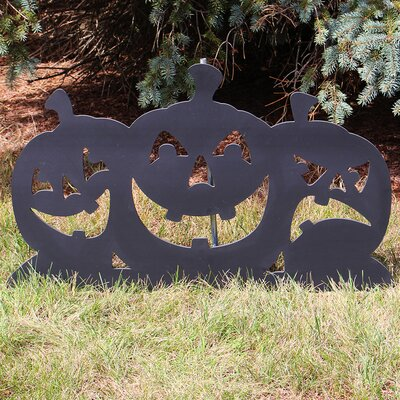Black Pumpkin Silhouette Sign 319871