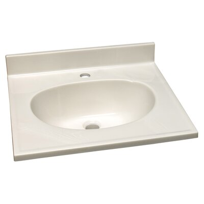 49 Single Bathroom Vanity Top Top Finish: White, Faucet Mount: 8 Widespread
