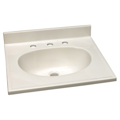 31 Single Bathroom Vanity Top Faucet Mount: 8 Widespread, Top Finish: White