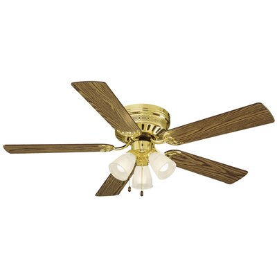52 Millbridge 5-Blade Ceiling Fan Finish: Medium Oak/Walnut Blades