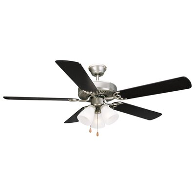 52 Millbridge 5-Blade Ceiling Fan Finish: Black/Light Maple Blades