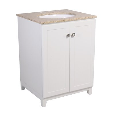 Rosalynn 2-Door 25 Single Bathroom Vanity Base Finish: White