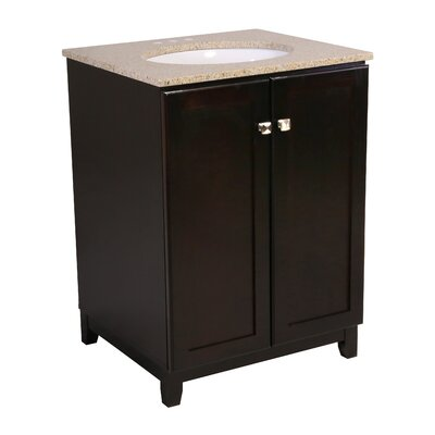 Rosalynn 2-Door 25 Single Bathroom Vanity Base Finish: Espresso