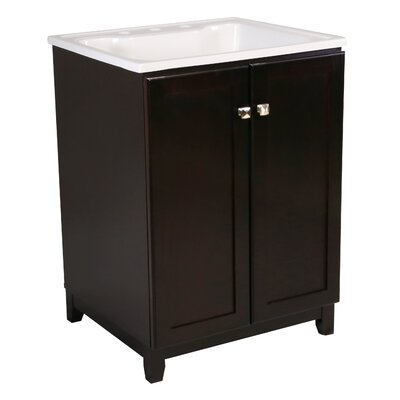 Shorewood 2-Door 25 Single Bathroom Vanity Set Base Finish: Espresso