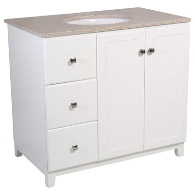 Rosalynn 2-Door 37 Single Bathroom Vanity Base Finish: White