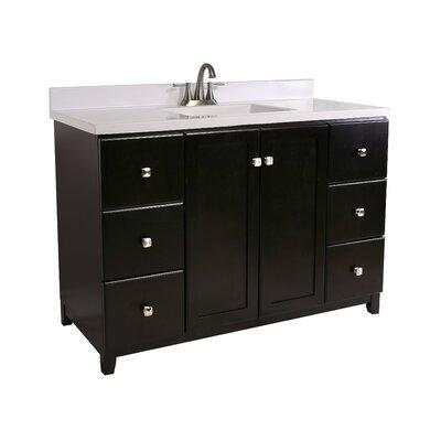 Shorewood 2-Door 49 Single Bathroom Vanity Base Finish: Espresso