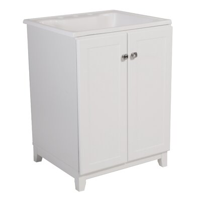 Rosalynn 2-Door 25 Single Bathroom Vanity Set Base Finish: White