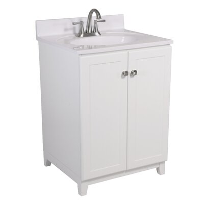 Shorewood 2-Door 25 Single Bathroom Vanity Base Finish: White