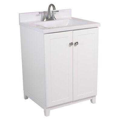 Rosalynn 2-Door 25 Single Bathroom Vanity Base Finish: White