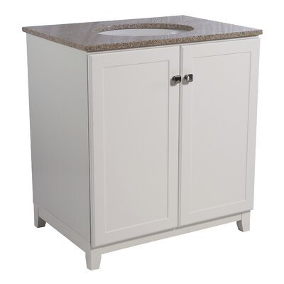 Rosalynn 2-Door 31 Single Bathroom Vanity Base Finish: White