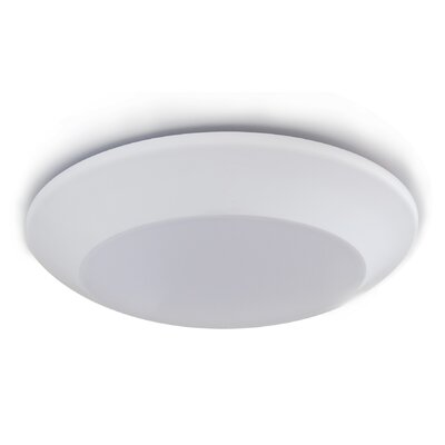 Prescott Dimmable 7.76 LED Recessed Trim Finish: White