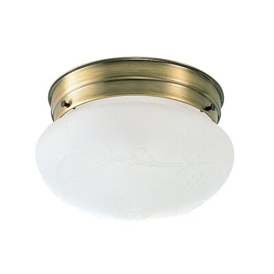 1-Light Flush Mount Finish: Antique Brass