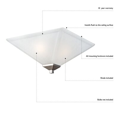 Millbridge Flush Mount Size: 4.75 H x 7.5 W, Finish: White