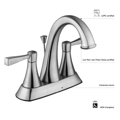 Geneva Double Handle Bathroom Faucet Finish: Satin Nickel
