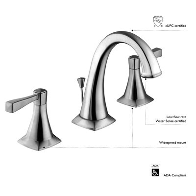 Oakmont Double Handle Bathroom Faucet Finish: Satin Nickel