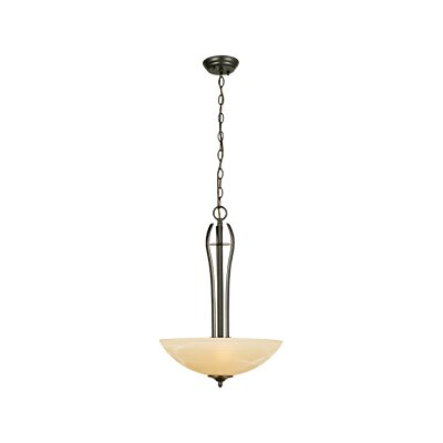 Trevie 2-Light Inverted Pendant Finish / Glass Color: Oil Rubbed Bronze / Tea Speckled Glass