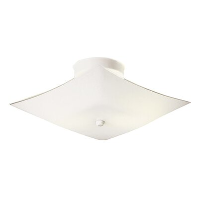 2-Light  Flush Mount Size: 5.8 H x 11.2 W x 11.2 D