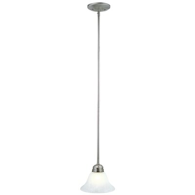 Millbridge 1-Light Mini Pendant Finish: Satin Nickel