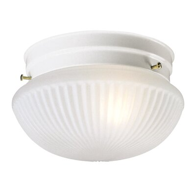 Millbridge Flush Mount Size: 5.63 H x 9.5 D, Finish: White