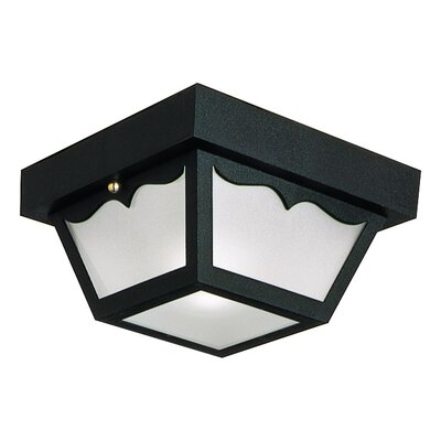 2-Light Flush Mount Finish: Black Polypropylene