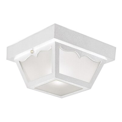 2-Light Flush Mount Finish: White Polypropylene