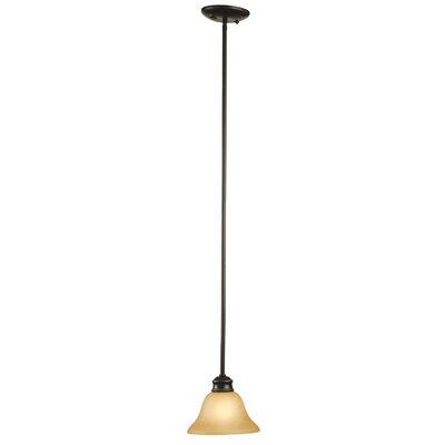 Bristol 1-Light Mini Pendant Finish/Glass Finish: Oil Rubbed Bronze / Tea Speckled Glass