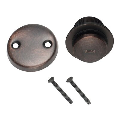 2 Pop-Up Tub Drain With Overflow Finish: Brushed Bronze