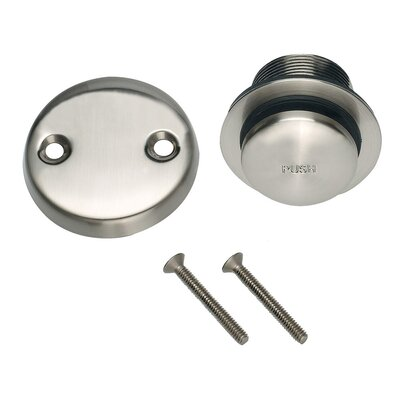 2 Pop-Up Tub Drain With Overflow Finish: Satin Nickel