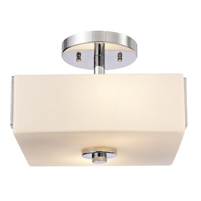Janeta 2-Light Semi Flush Mount