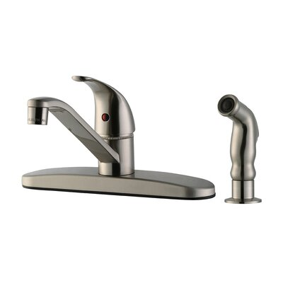 Middleton Single Handle Kitchen Faucet with Side Sprayer Finish: Satin Nickel