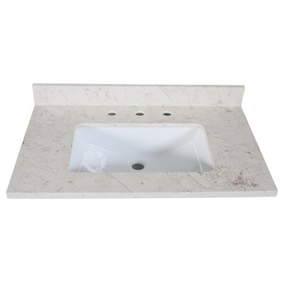 Quartz 25 Single Bathroom Vanity Top