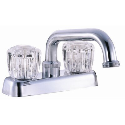 Double Handle Laundry Tub Faucet Trim Finish: Polished Chrome