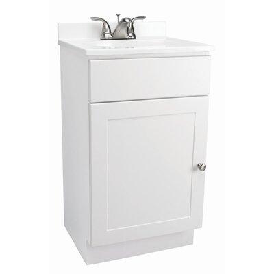 18 x 16 Single Door Vanity Combo Finish: White