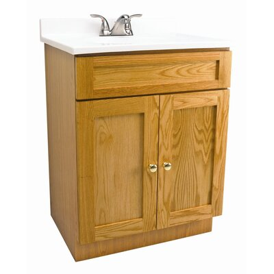 Bath in a Box 24 x 18 x 31.5 Vanity Set Cabinet with Single Top