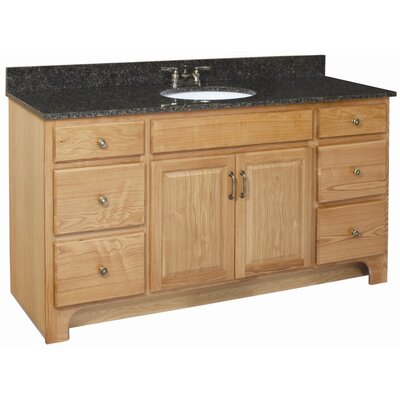 Richland 60 x 21 Double Door 4 Drawers Vanity Cabinet  with Solid Surface