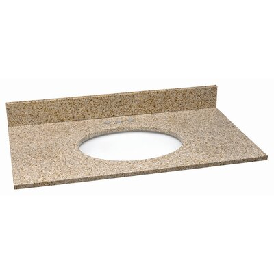 25 Single Bathroom Vanity Top Top Finish: Golden Sand
