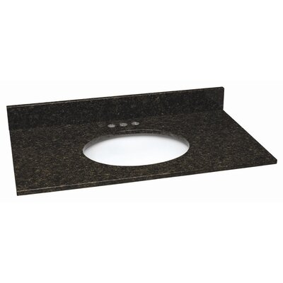 61 Single Bathroom Vanity Top Material: Granite, Top Finish: Uba Tuba